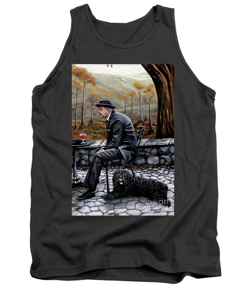 Tank Top featuring the painting Autumn Friends by Judy Kirouac