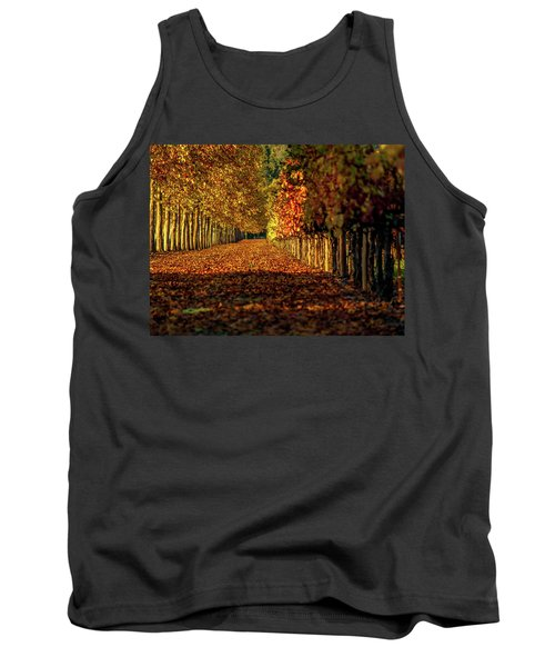 Tank Top featuring the pyrography Autumn In Napa Valley by Bill Gallagher