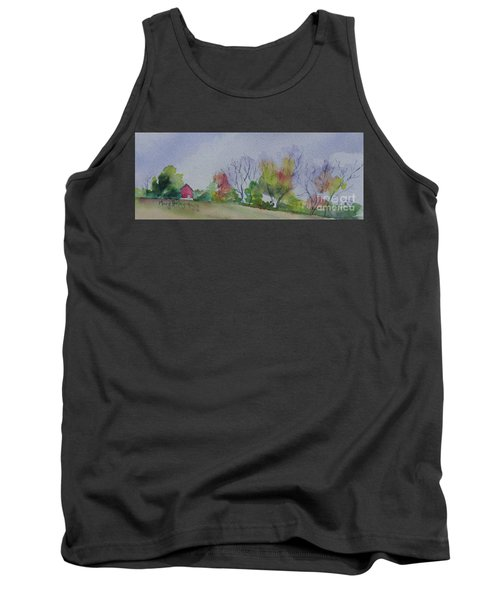 Tank Top featuring the painting Autumn In Rural Ohio by Mary Haley-Rocks