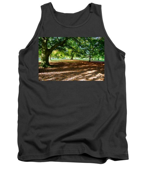 Tank Top featuring the photograph Autumn In The Park by Colin Rayner