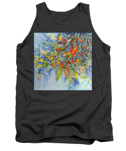 Tank Top featuring the painting Autumn Lace by Joanne Smoley