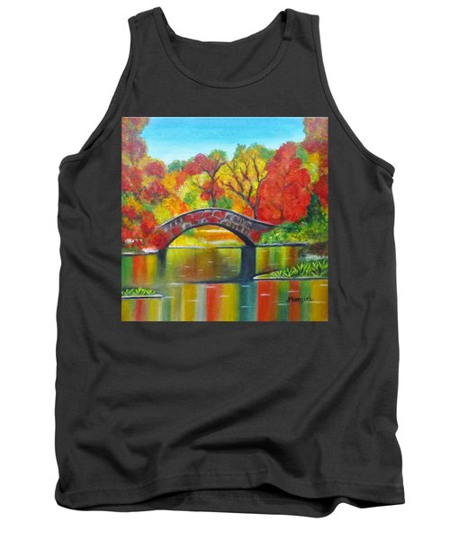 Autumn Landscape -colors Of Fall Tank Top