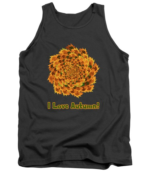 Tank Top featuring the digital art Autumn Leaves Pattern by Methune Hively