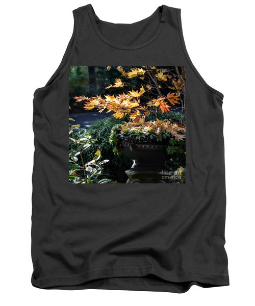 Autumn Maple And Succulents Tank Top by Tanya Searcy