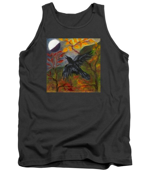 Autumn Moon Raven Tank Top by FT McKinstry