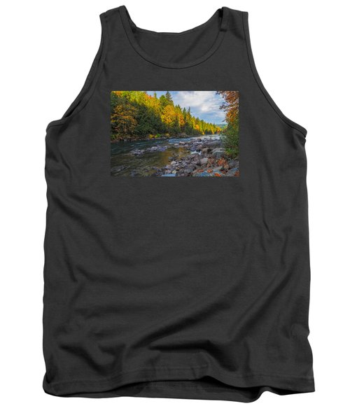 Autumn Morning Light On The Snoqualmie Tank Top by Ken Stanback