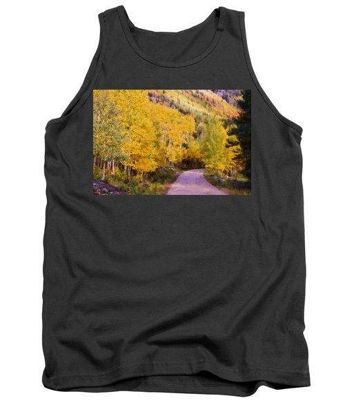Tank Top featuring the photograph Autumn Passage by Lana Trussell