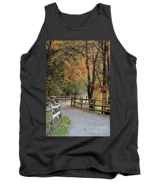 Autumn Path In Park In Maryland Tank Top