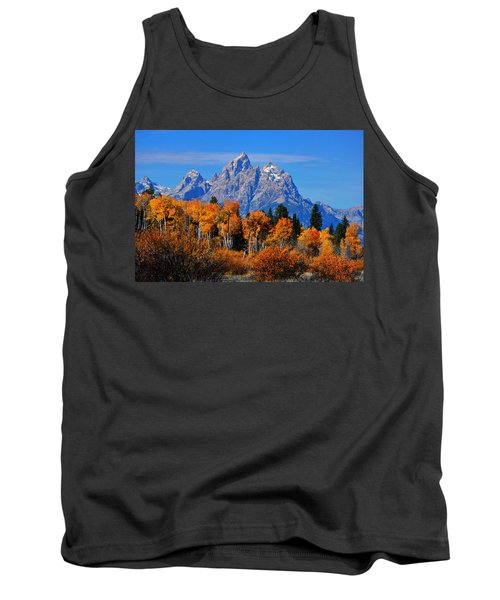 Tank Top featuring the photograph Autumn Peak Beneath The Peaks by Greg Norrell