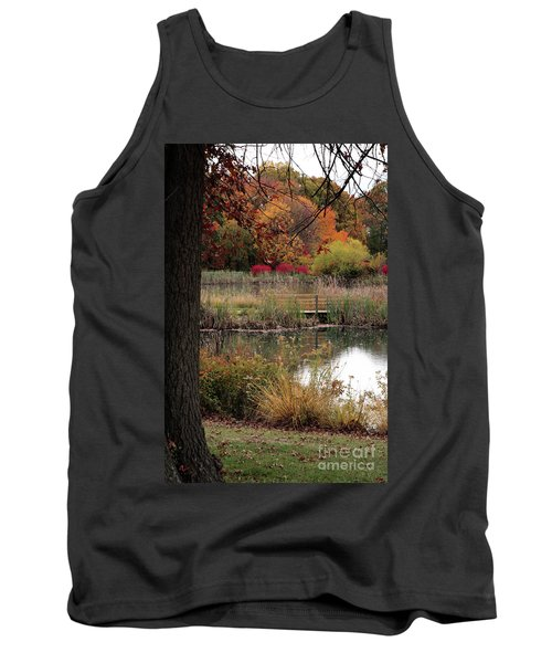 Autumn Pond In Maryland Tank Top