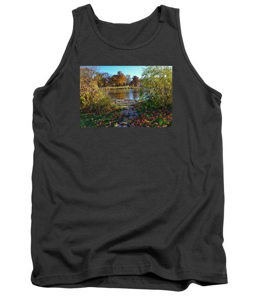 Tank Top featuring the photograph Autumn Pond by Nikki McInnes