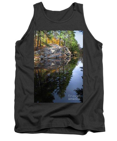 Autumn Reflections At Runaround Pond In Durham Maine  -20224 Tank Top