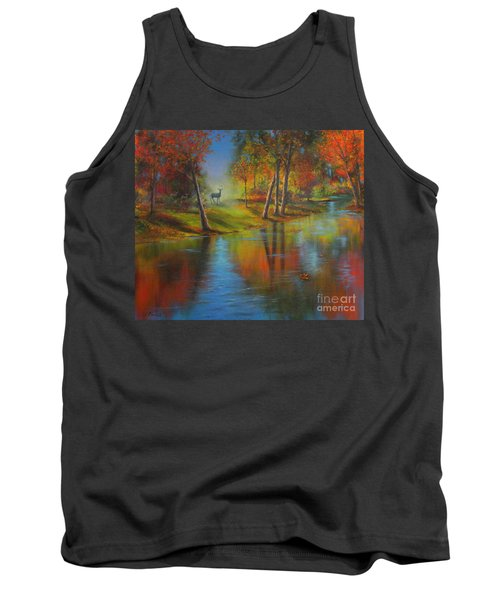 Autumn Reflections Tank Top by Jeanette French