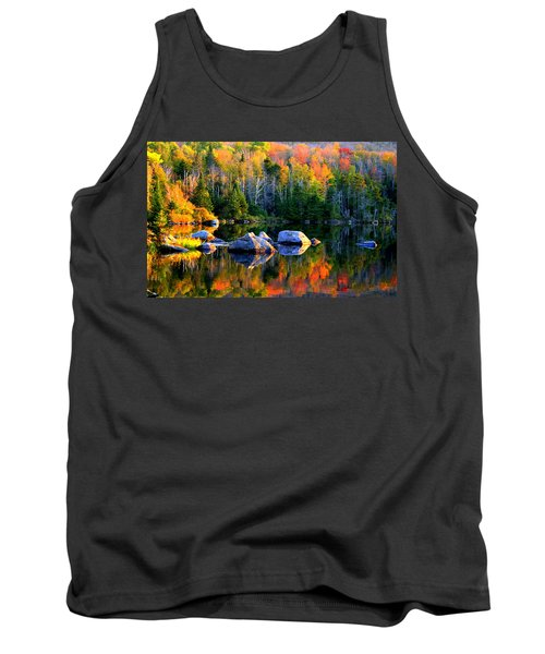 'autumn Reflections - Noyes Pond' Tank Top