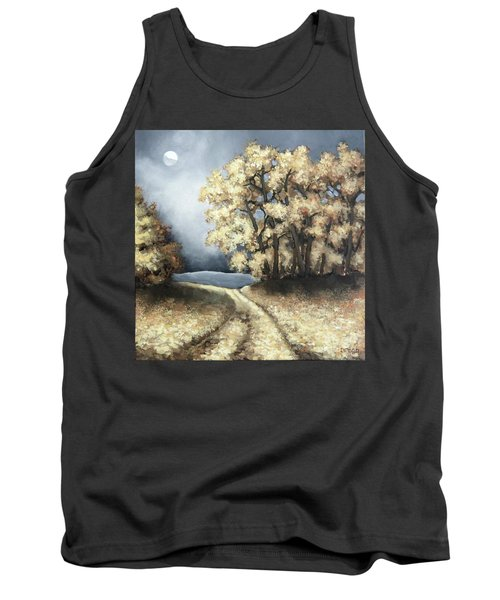 Autumn Road Tank Top by Inese Poga