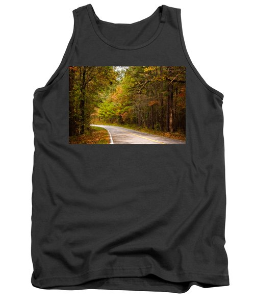Autumn Road Tank Top by Lana Trussell