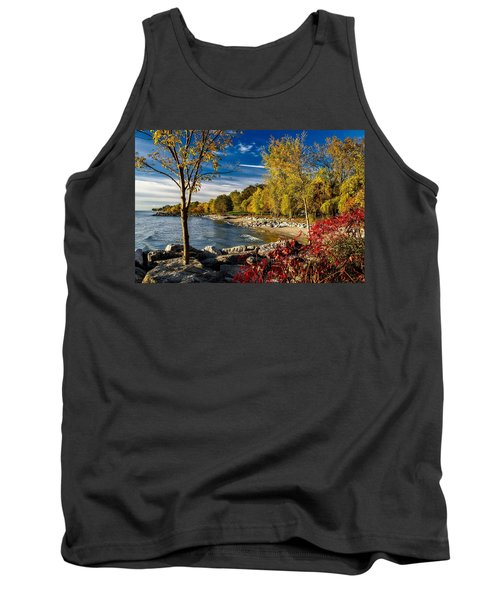Autumn Scene Lake Ontario Canada Tank Top