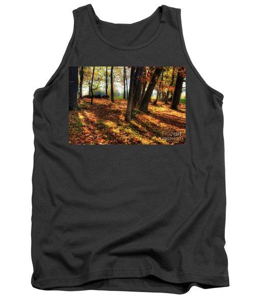 Tank Top featuring the photograph Autumn Shadows In The Blue Ridge by Dan Carmichael