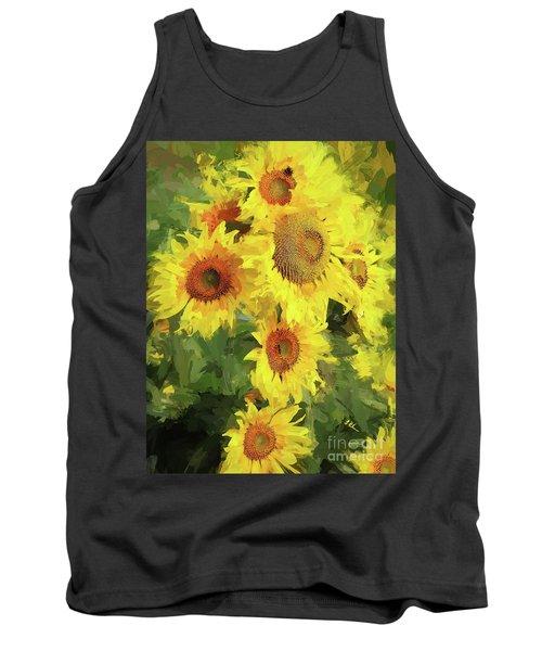 Autumn Sunflowers Tank Top by Tina LeCour