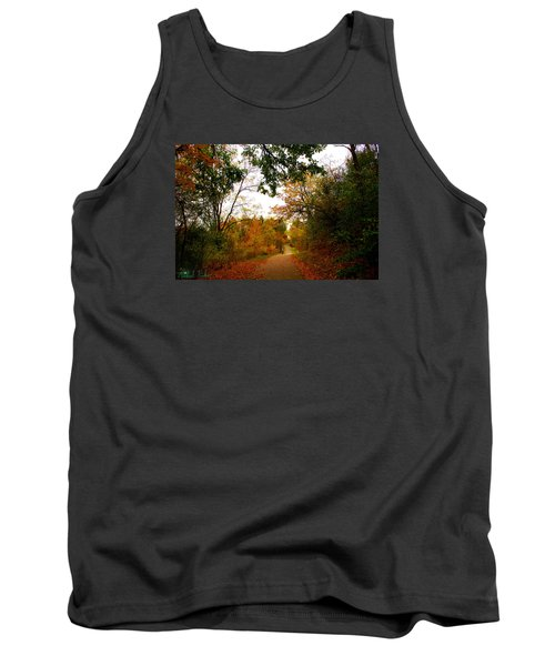 Tank Top featuring the photograph Autumn Trail by Michael Rucker