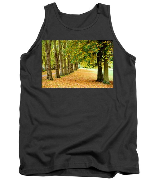 Tank Top featuring the photograph Autumn Walk by Colin Rayner
