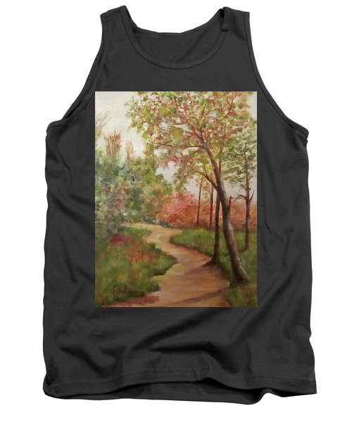 Tank Top featuring the painting Autumn Walk by Roseann Gilmore