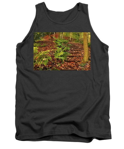 Autumn Woodland Path Tank Top