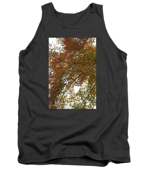 Tank Top featuring the photograph Autumn's Abstract by Deborah  Crew-Johnson