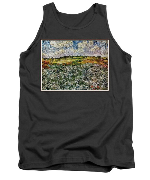 Tank Top featuring the painting Landscape Auvers28 by Pemaro