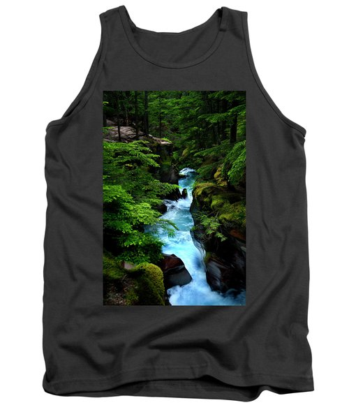 Avalanche Creek Waterfalls Tank Top