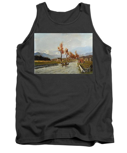 Tank Top featuring the painting Avellino's Landscape  by Rosario Piazza