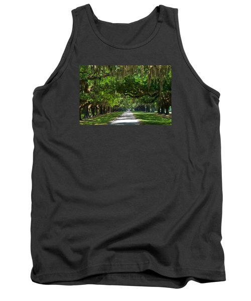 Avenue Of The Oaks At Boonville Plantation Tank Top