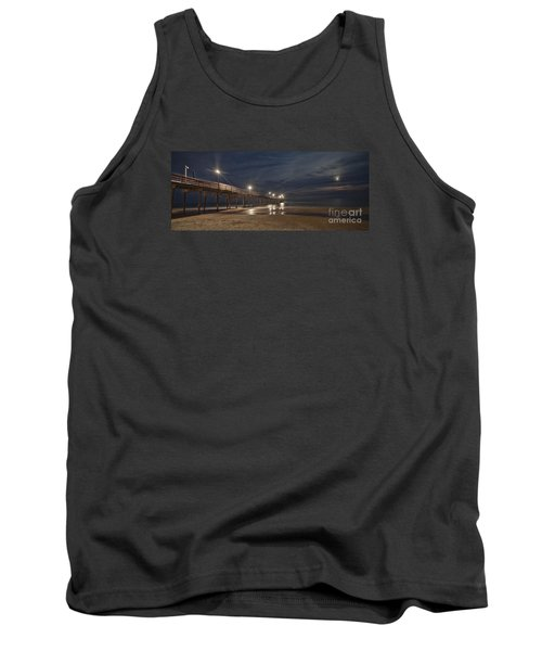 Avon Pier At Night Tank Top by Laurinda Bowling