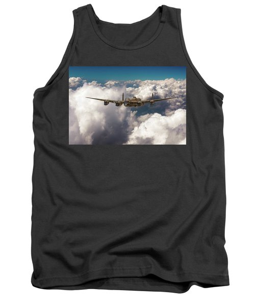 Avro Lancaster Above Clouds Tank Top by Gary Eason