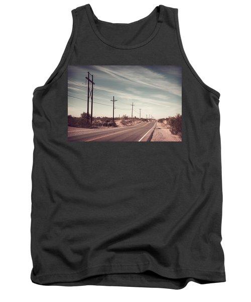 Tank Top featuring the photograph Az Highway by Joseph Westrupp