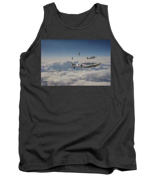 Tank Top featuring the digital art B17 - Luftwaffe Battleground by Pat Speirs