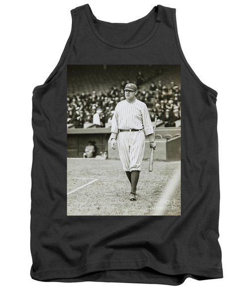 Babe Ruth Going To Bat Tank Top