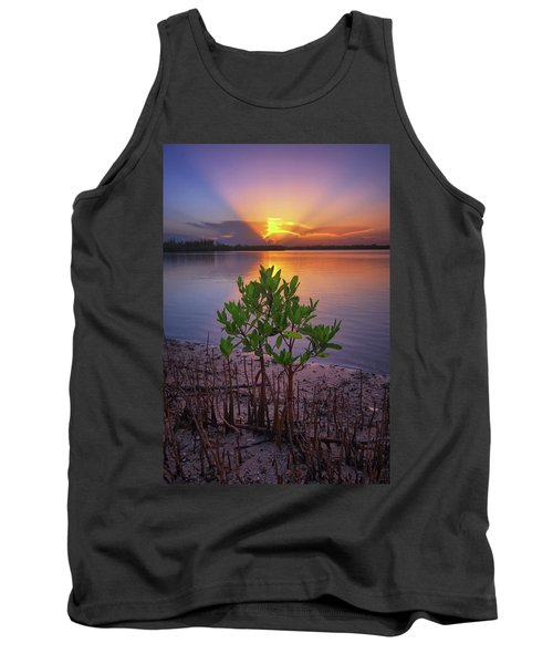 Baby Mangrove Sunset At Indian River State Park Tank Top