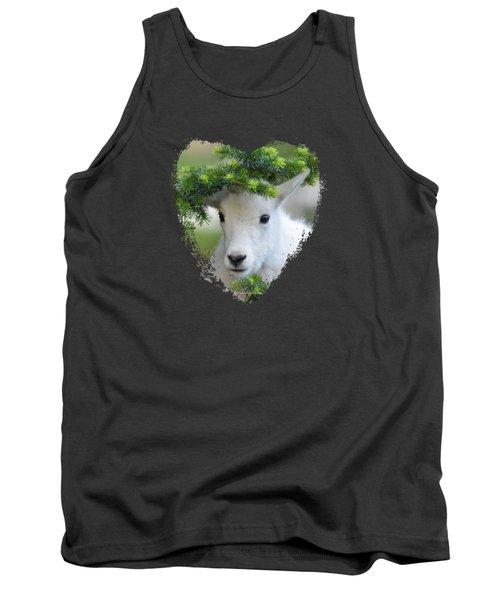 Baby Mountain Goat Heart Tank Top