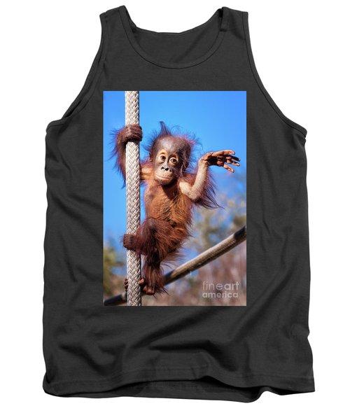 Baby Orangutan Climbing Tank Top