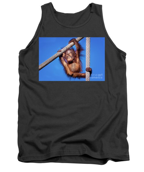 Baby Orangutan Hanging Out Tank Top by Stephanie Hayes