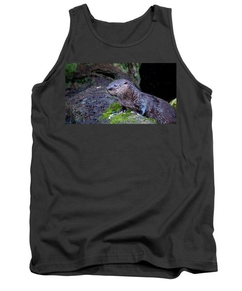 Tank Top featuring the photograph Baby Otter by Kelly Marquardt