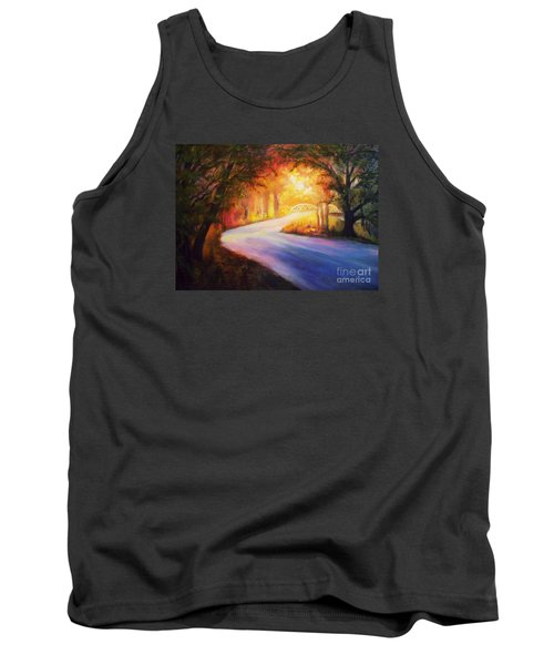 Tank Top featuring the painting Back Road To Paradise by Karen Kennedy Chatham