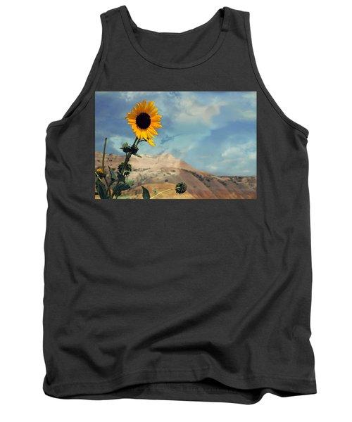 Badlands Of South Dakota Yellow Flower Tank Top