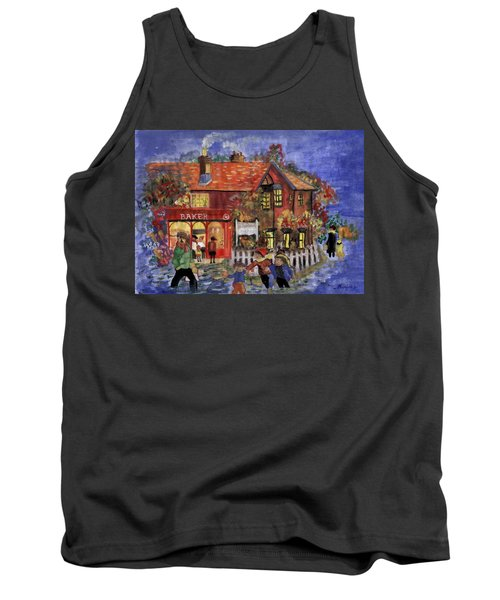 Bakers Inn Winter Holiday Landscape Tank Top