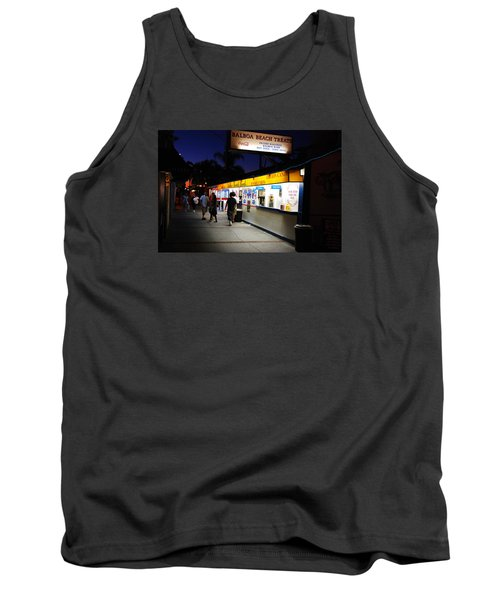 Tank Top featuring the photograph Balboa Pier Nghts by James Kirkikis