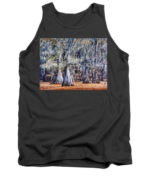 Bald Cypress In Caddo Lake Tank Top by Sumoflam Photography