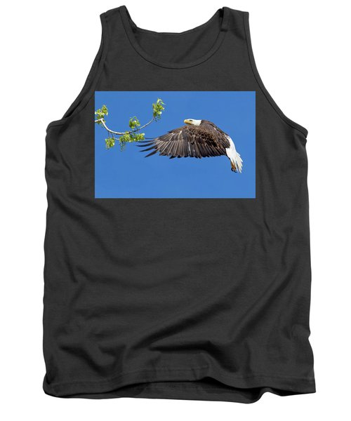 Bald Eagle In Flight 4-25-17 Tank Top