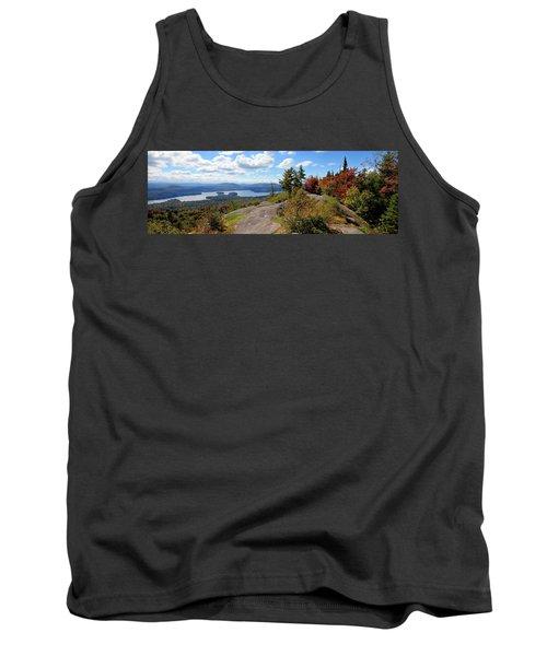 Bald Mountain Autumn Panorama Tank Top
