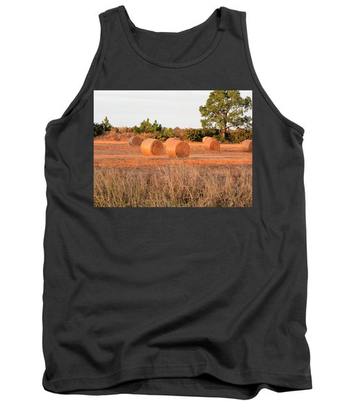 Tank Top featuring the photograph Bales by Rosalie Scanlon